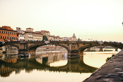 Buy stock photo Shot of the beautiful city of Florence in Italy