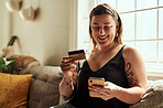 The credit card that rewards her for shopping online