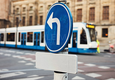 Buy stock photo Still life shot of a traffic sign in the city of Amsterdam in Netherlands