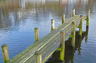 Buy stock photo A photo of a Wooden pier