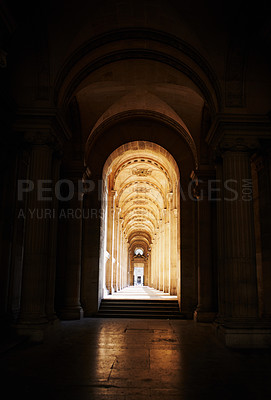 Buy stock photo Shot of the beautiful architecture inside a historical building