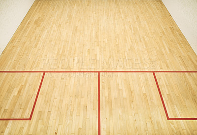 Buy stock photo Shot of an empty squash court