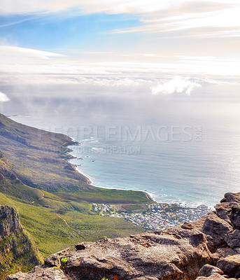 Buy stock photo A photo of Table Mountain and surroundings