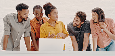 Buy stock photo Cropped shot of a group of designers working together in a office