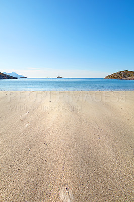 Buy stock photo Public beach close to the city of Bodoe, North of the Polar Circle, Norway