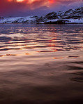 Sunset north of the Polar circkle, Nordland, Norway