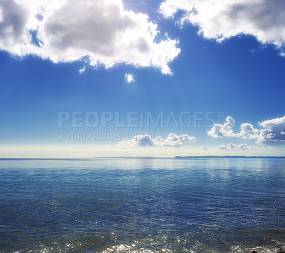 Buy stock photo An early morning with calm water