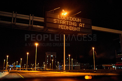 Buy stock photo Still life shot of a billboard sign that says
