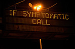Call this number if you feel any symptoms