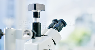 Buy stock photo Shot of a microscope in a lab
