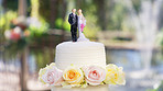 A beautiful cake that's as sweet as the couple's love