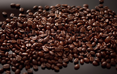 Buy stock photo Closeup shot of coffee beans