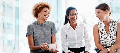 Buy stock photo Shot of a group of businesswomen in an office