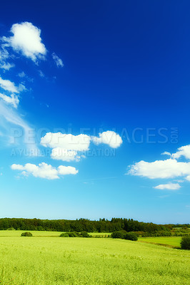 Buy stock photo A  photo of the countryside at summertime