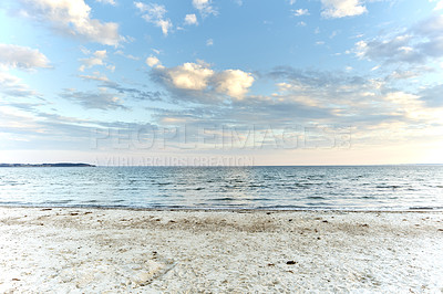 Buy stock photo Beach and coast in calm weather