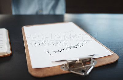 Buy stock photo Still life shot of a clipboard with