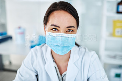 Buy stock photo Portrait of a young scientist in a lab
