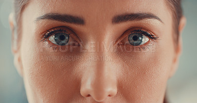 Buy stock photo Cropped shot of a young woman's beautiful eyes