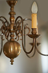 Ornate chandelier made of brass