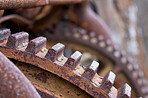 Rusty machine parts