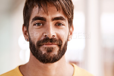 Buy stock photo Cropped portrait of a handsome young male designer standing in his office