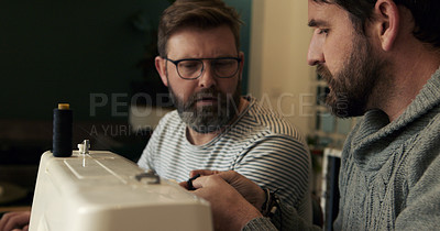Buy stock photo Shot of a mature couple making face masks at home