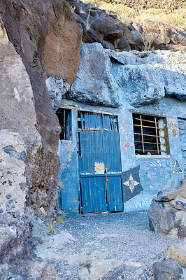 Buy stock photo Abandoned cave house, close to Los Llanos, La Palma, Canary Islands