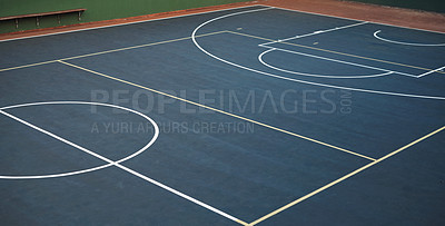 Buy stock photo Shot of an empty basketball court