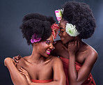 With flowers in our hair and happiness in our hearts