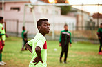 The future looks bright for this young soccer star