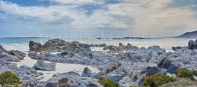 Buy stock photo Rocky coast in West Coast National Park,  Western Cape, South Africa.