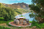 A photo picnic area near Shapmanns Peak Road, Cape Town, South Africa