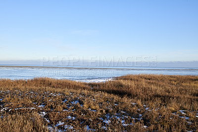 Buy stock photo Photos of Danish winter by the coast of Kattegat.