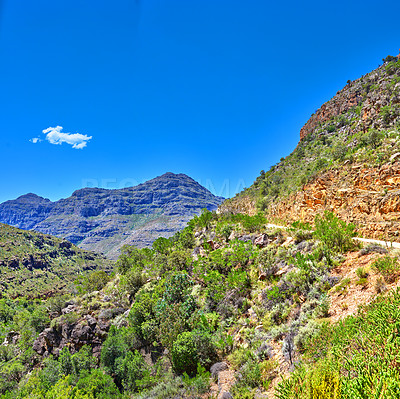 Buy stock photo South African mountainside scenics, Western Cape