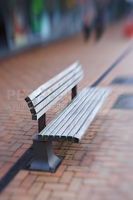 Buy stock photo A photo of an outdoor bench