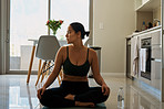 You have the whole room to yourself when doing yoga at home