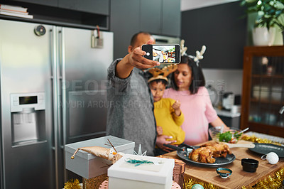 Buy stock photo Shot of a family celebrating easter at home