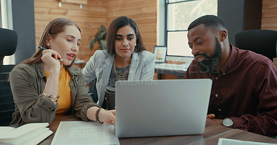 Buy stock photo Shot of a group of colleagues having a business meeting at their office