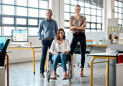 Buy stock photo Portrait of a group of businesspeople in an office