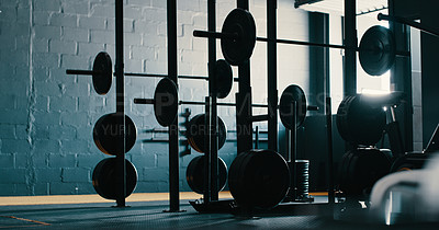 Buy stock photo Still life shot of exercise equipment in a gym