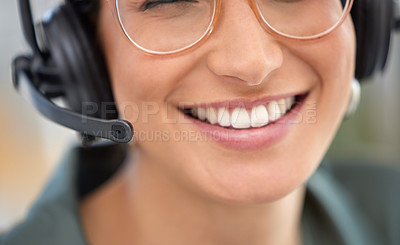 Buy stock photo Shot of a businesswoman working in a call center