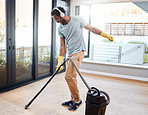 The vacuum makes a good replacement for a dance partner