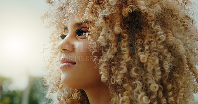 Buy stock photo Shot of a young woman in the city