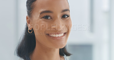 Buy stock photo Portrait shot of a young woman at home