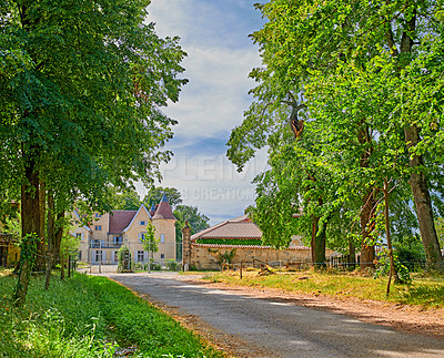 Buy stock photo A series of photos of countryside, farmland and forest close to Lyon, France