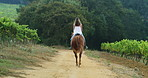 Riding a horse is like flying without wings