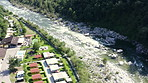 River Maggia's rocky bed