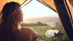 Life looks  a lot more beautiful from inside a tent