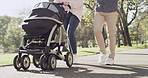 Strolls in the park make for a perfect family outing
