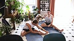 Yoga makes a home a happy one
